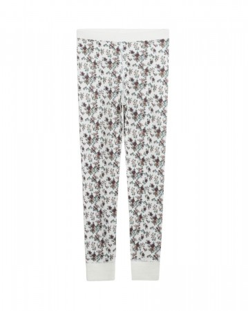 Hust and Claire - Laso Leggings Ull/Bambus m/ blomster